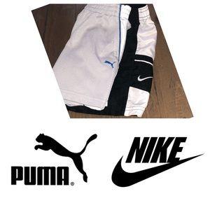 Nike & Puma boy 24m shorts black/ white grey/blue
